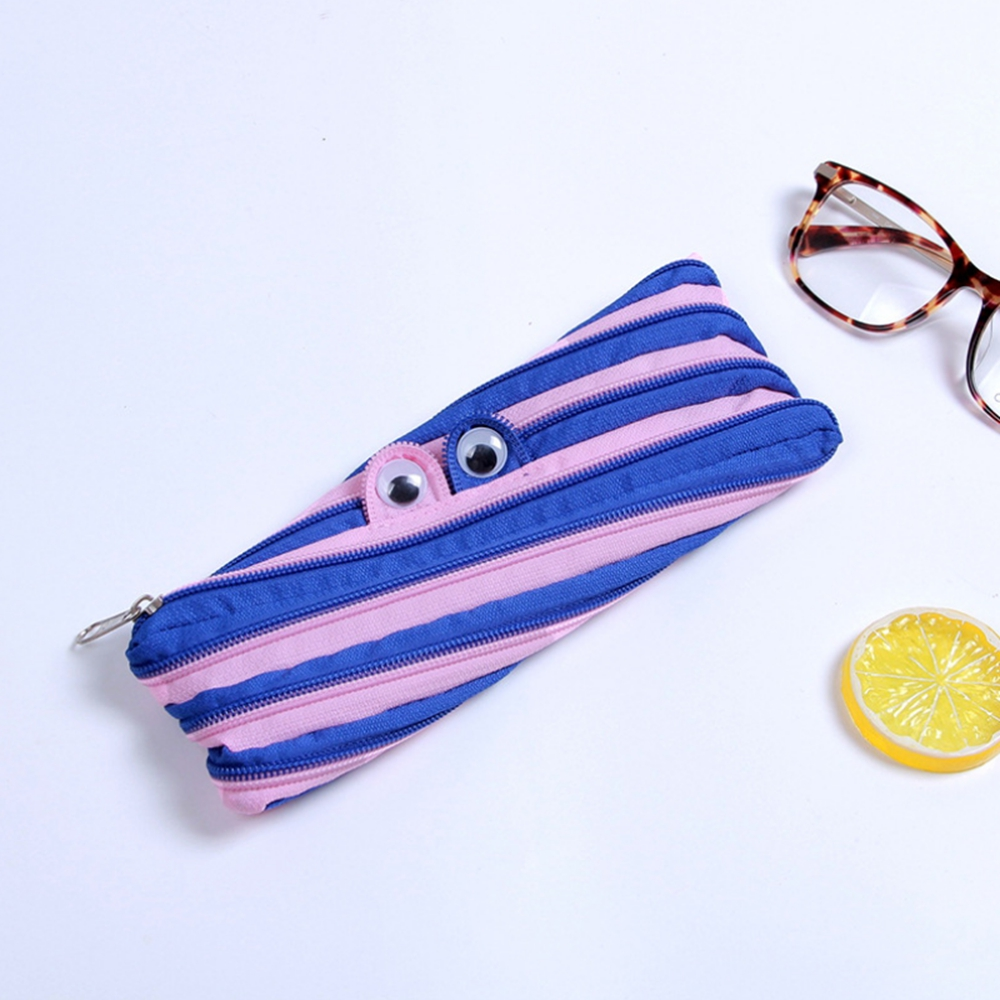 Removable Cute Pencil Case with One Zipper School Student Stationery Supplies Children Gift Pencil Bag