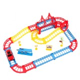 45pcs Changeable Track Racing Car Toy Children's Electric Rail Car Toy Set Multi-layer Track Assembly Combination Puzzle Toy Kids Gift