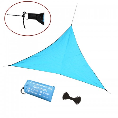 3/4/6M Outdoor Triangle Waterproof Awnings Sun Shelter Sunshade Outdoor Canopy Garden Patio Pool Shade Sail Awning