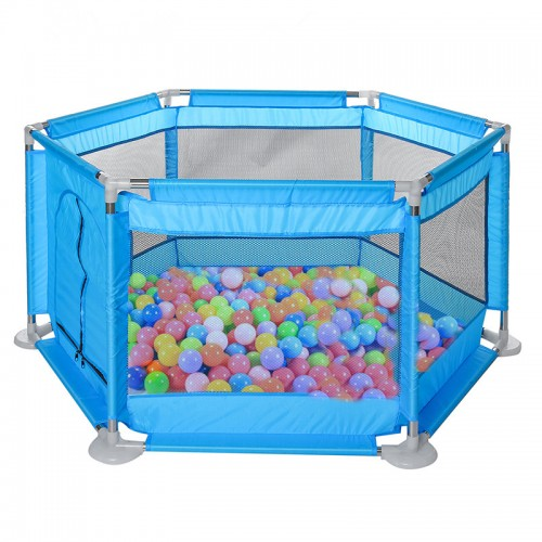 Kids Furniture Playpen Set Children Toys Swimming Pool Safety Barriers Babys Playground Ball Park with 20 Pcs Colorful Balls for 0-6 Years