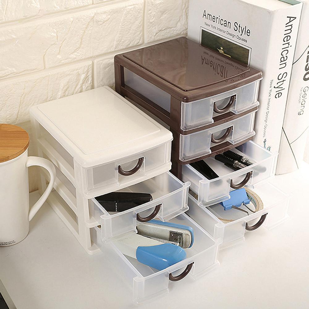 Cosmetics Storage Box Makeup Organizer 2/3/4/5 Layers Drawer Desktop Sundries Container Lipstick Storage Box Jewelry Case