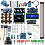 Module Sensor Kit For Arduino with 0.96″ OLED 1602 LCD Display Relay Servo Motor DHT11 for Starter Projects