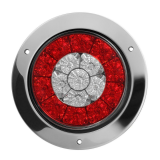 12V 2pcs 4 Inch Round Trailer Light 16 LED Rear Tail Lamp Brake Stop Back Indicator For Truck Caravan Boat