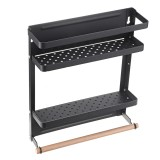 Wrought Iron Small Refrigerator Rack Creative Kitchen Supplies Folding Storage Rack Display Rack Multifunctional Magnetic Storage Rack