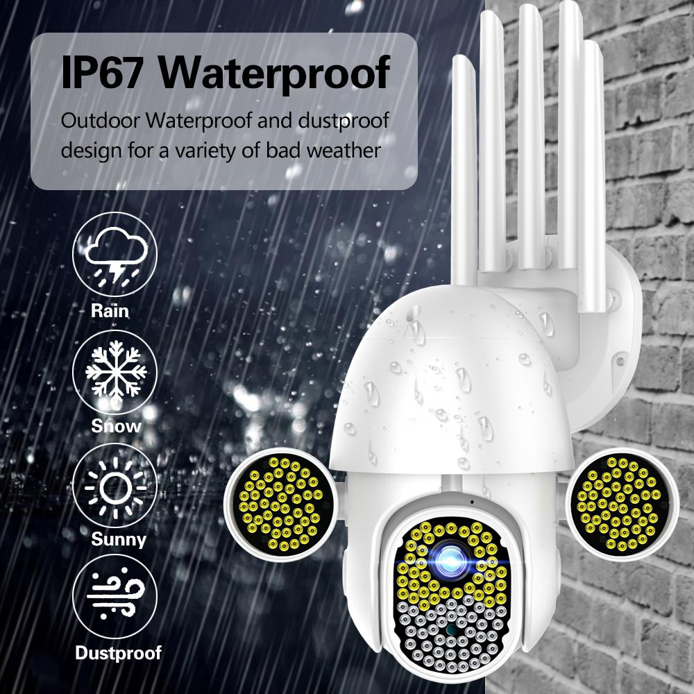 Guudgo 172 LED 1080P 2MP IP Camera Outdoor Speed Dome Wireless Wifi Security IP66 Waterproof Camera 360 Pan Tilt Zoom IR Network CCTV Surveillance