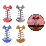 Aluminum Alloy Spring Fish Bone Shape Tent Nail Camping Plank Hook Tent Peg Wind Stopper Buckle Camping Accessories