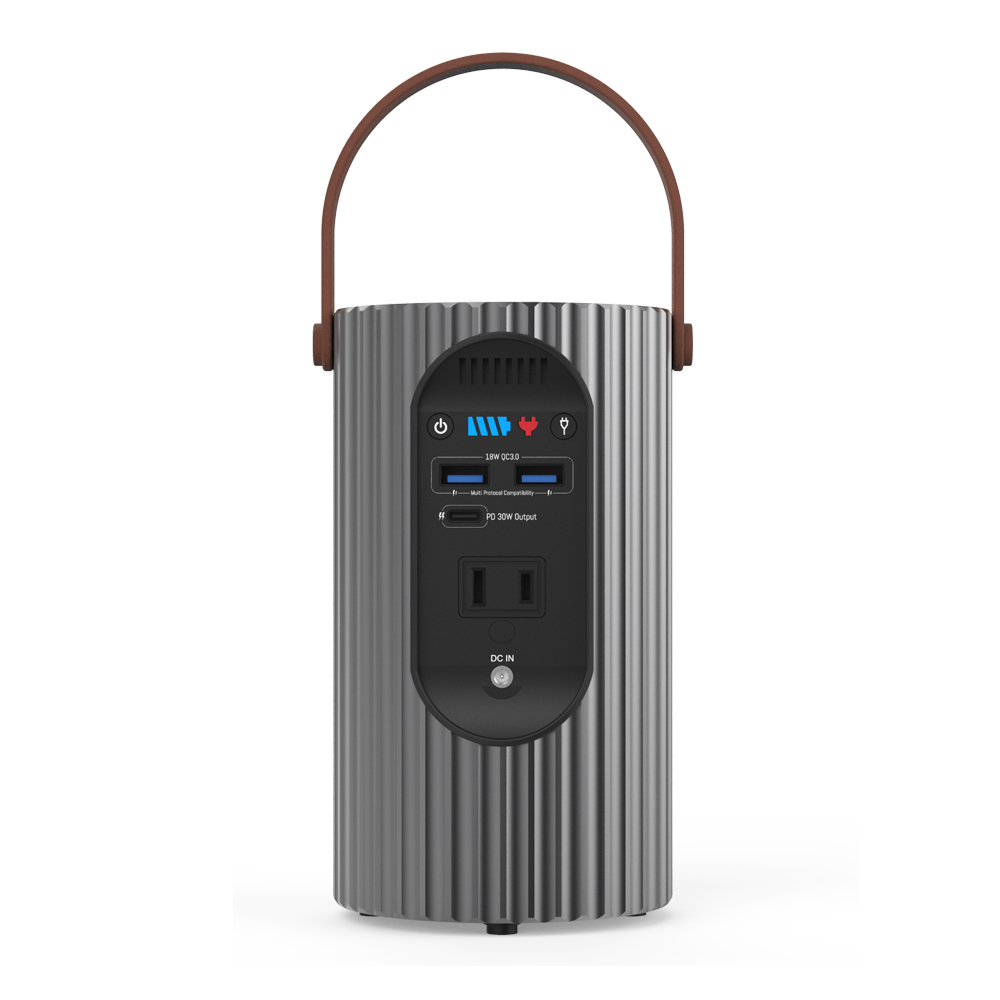 IPRee Outdoor 24000mAh Solar Power Bank AC 80W Home Emergency Generator 51LED Cycling Fishing Camping Light Black