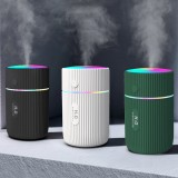 300ml Portable Air Humidifier Ultrasonic Aroma Essential Oil Diffuser USB Charging with Colorful Lights for Car Home Office
