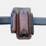 Men Genuine Leather Retro Mini Easy Carry Multitool Organizer Gear Bag Belt Bag Waist Bag