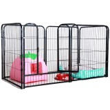Foldable Pet Dog Playpen Tent Crate Room Puppy Exercise Cat Cage Waterproof Outdoor Single Door Mesh Shade Cover Nest Kennel