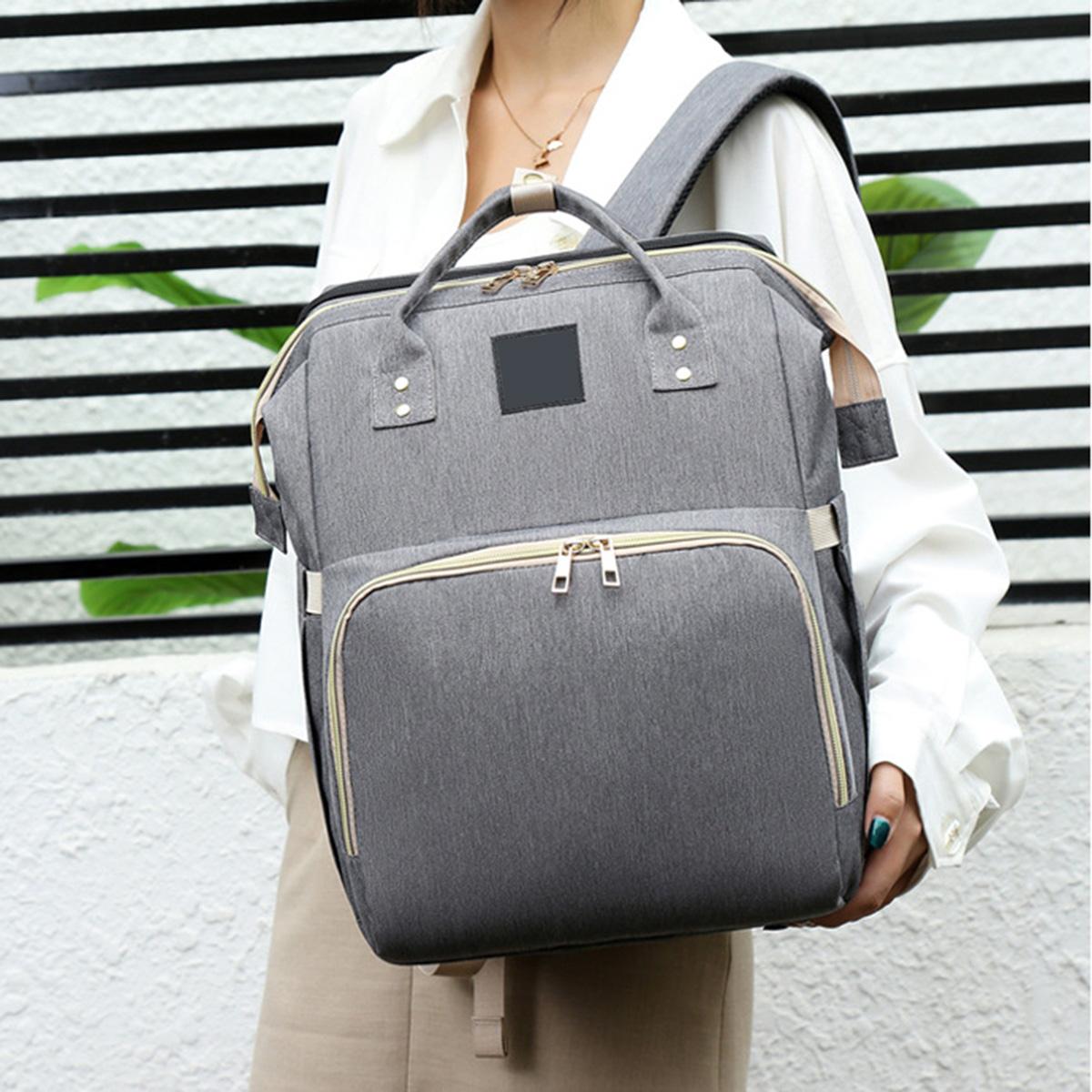 PIcano G14826 2 in 1 Mom Backpack Diaper Bag Multifunctional Baby Bed Crib Handbag Stroller