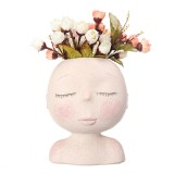 Nordic Doll Shaped Flower Pot Sculpture Flower Pot Art Vase Home Decor Succulents Head Shaped Vase Ornament