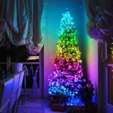 Christmas USB Fairy Lights LED String Lights Music Sync Bluetooth APP Phone Indoor Outdoor Twinkle Lights 32.8FT Hanging Curtain String Lights Color Changing Starry Lights – 20m 200LEDS Christmas Decorations Clearance Christmas Lights