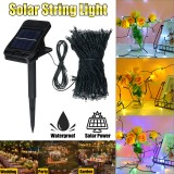22M 200LED Solar Clip String Light Waterproof Copper Wire Fairy Outdoor Garden Clip Lawn Lamp for Home Yard