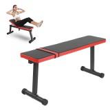 110cm Foldable Dumbbell Bench Multifunctional Sit Up Bench Leather Steel Frame Abdomen Training Crunch Fitness Equipment