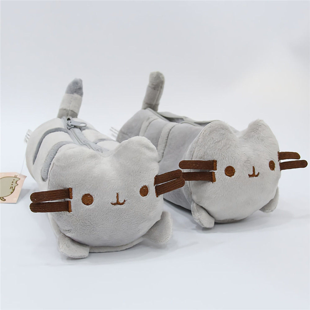 Fat Cat Plush Pencil Case Bag Office Girl Kids Stationery Plush Toy Study Office Tools Storage Bag Students Supplies