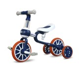 PORSA PIM 3-in-1 Kids Tricycles Baby Balance Bike Ride Slip Dual Mode Children Bike with Detachable Pedal Training Wheels for 1-4 Year Old Baby