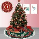 2020 Christmas Decor 87cm Christmas Tree Skirt Mat Edge Border Round Mat Carpet for Home Living Room Decoration