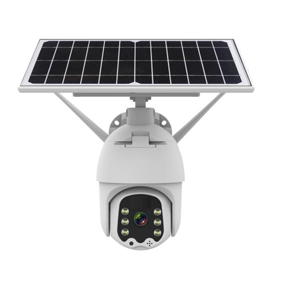 Xiaovv 1080P Wireless Security IP Camera Outdoor Pan Tilt WiFi Spotlight Solar Battery Powered Full-color Night Vision Motion Detect for Home Security IP Camera