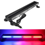 72W LED Strobe Light Bar Double Side Warning Strobe Car Hazard Light Emergency Beacon Flashing Lamp Red&Blue
