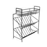 2/3 Layers Shelf Kitchen Utensils Storage Iron Spice Rack Storage Stand Home Organizer Kitchen Shelf-Black