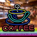 COFFEE LED Neon Sign Light Hanging Party Store Visual Artwork Lamp Wall Decor AC110-240V