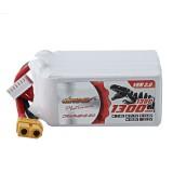 DINOGY 22.2V 1300mAh 6S 130C Lipo Battery XT60 Plug for FPV Racing Drone