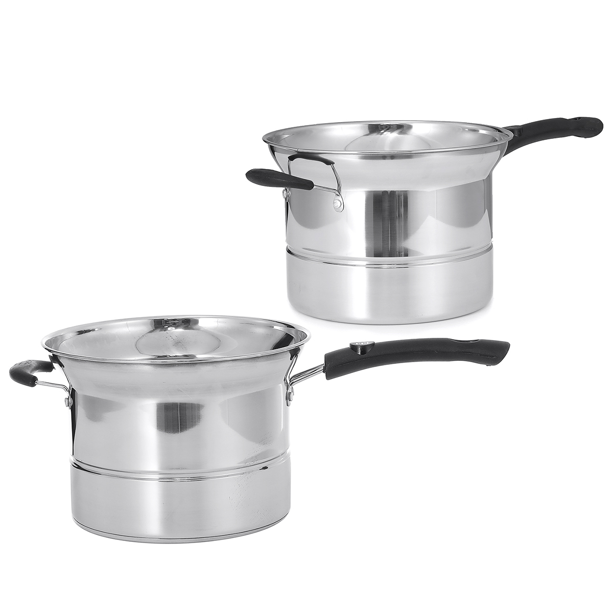 22cm Stainless Steel Pot Soup Pot Milk Pot With Handle Instant Noodle Pot Cooking Baby Foods for Kitchen Cookware
