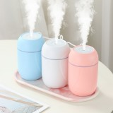 260ml USB Mini Humidifier Mist Diffuser 30-45ml/h with Colorful Night Light for Car Office Home