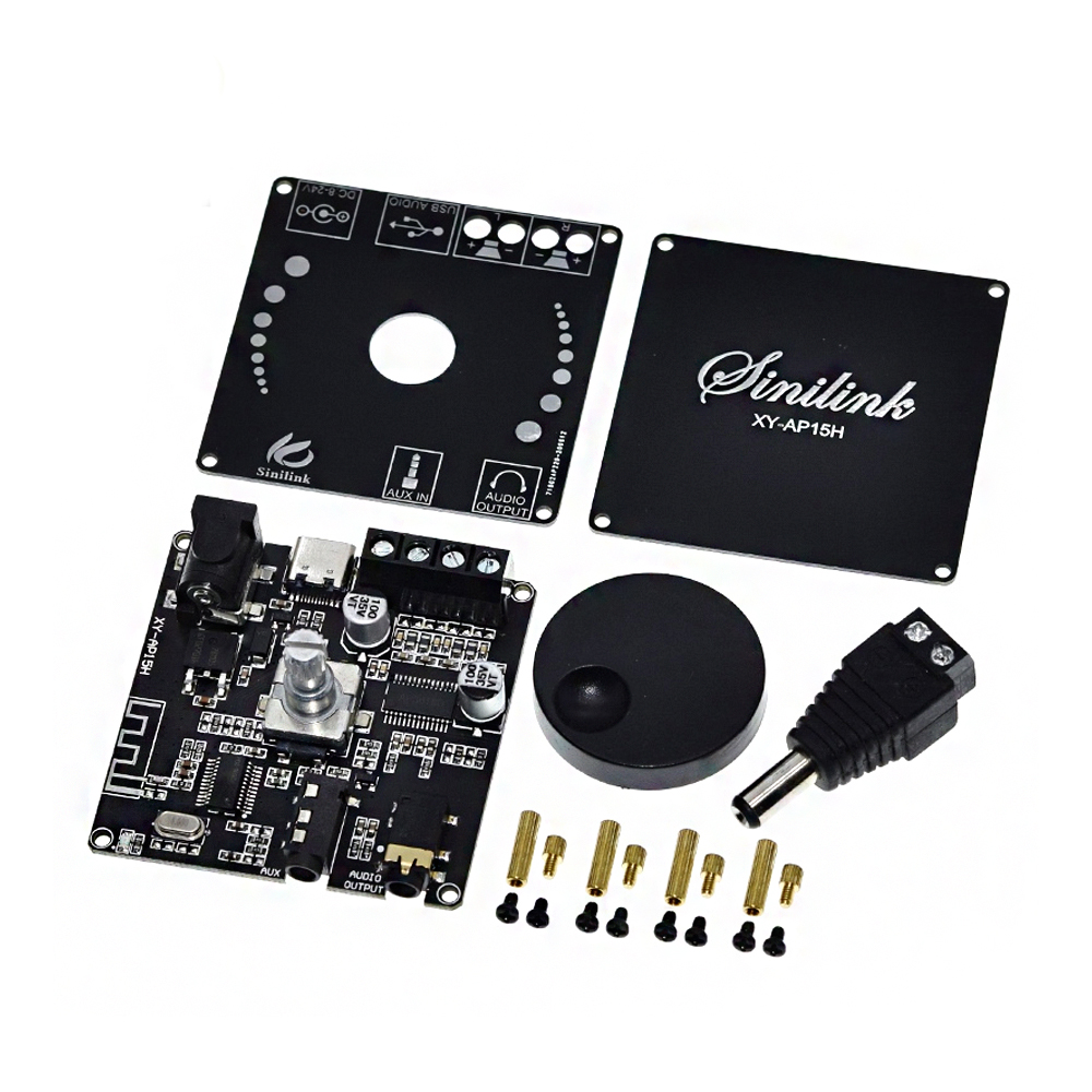 XY-AP15H bluetooth 5.0 10W/15W/20W Stereo Power Amplifier Board Mobile Control APP 12V/24V High Power Digital Amplifier Module