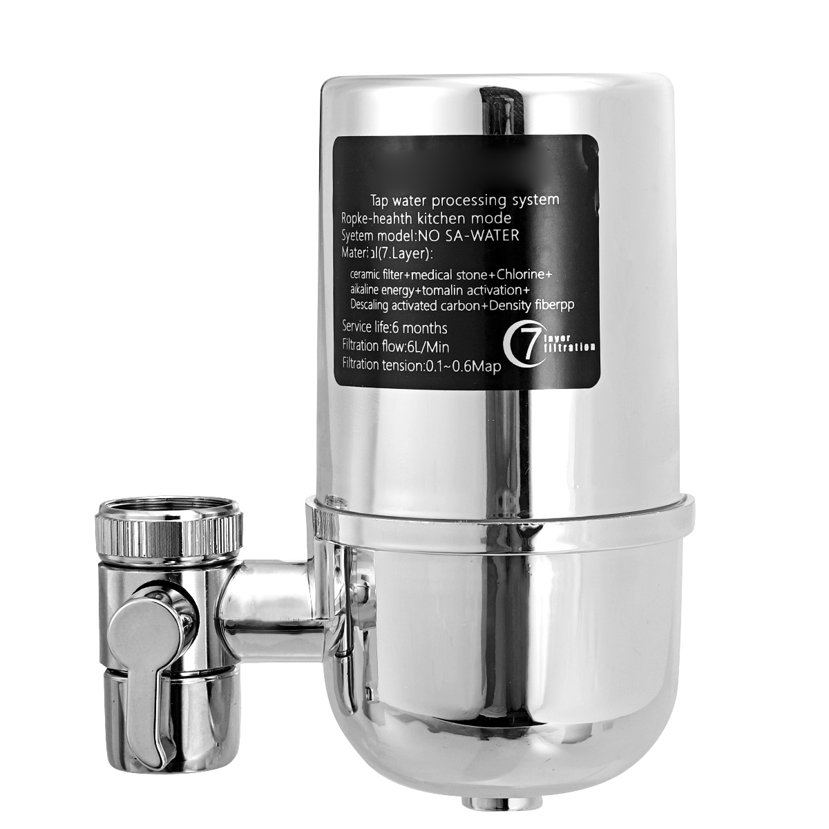 Home Kitchen Faucet Water Filter Single Stage Filtration Tap Ceramic Purifier