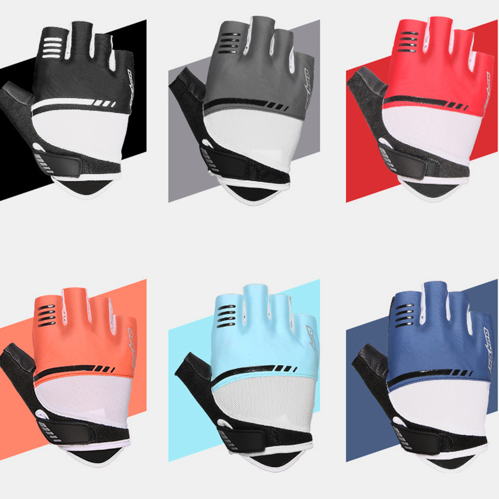 Unisex Non-slip Breathable Wear-resistant Half Finger Gloves For Outdoor Riding Cycling