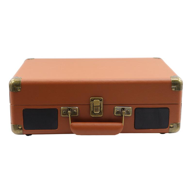 Phonograph Turntables Record Player Retro Vinyl Phonograph Record Player Suitcase USB Bluetooth Speaker