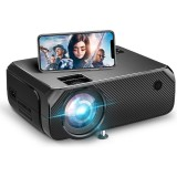 [Wireless Same Screen] YJ555 LCD Mini LED Projector Wireless Phone Same Screen for Outdoor Movie Home Theater Compatible for Smartphone PC Labtops Computer