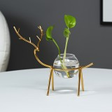 Desktop Hydroponic Flowerpot Decoration Fresh Desktop Small Fish Tank Office Desk Living Room Creative Plant Vase Decoration for Home Office