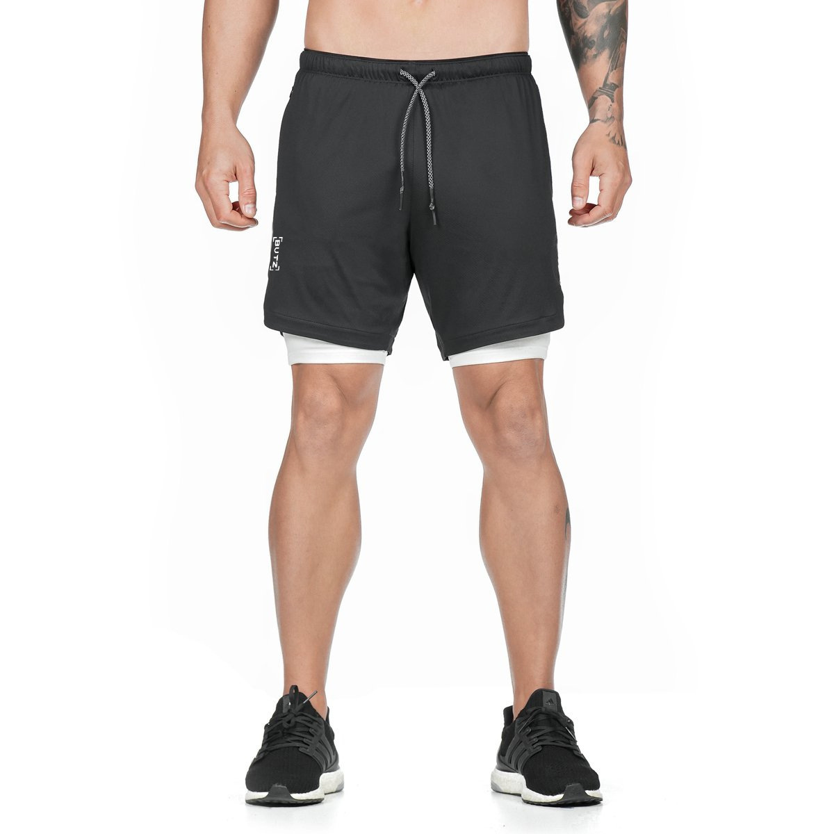 2020 Camo Running Shorts Men 2 In 1 Double-deck Quick Dry GYM Sport Shorts Fitness Jogging Workout Shorts Men Sports Short Pants