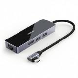 UGREEN Type C Splitter USB3.0 HDMI Hub RJ45 Gigabit Ethernet Adapter USB C Multifunction Converter Docking Station CM350
