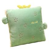 027 Sleeping Pillow 35*35cm Foldable Cartoon Cactus Blanket Sofa Bed Air Condition Blanket Cushion Travel Warm Blanket