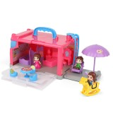 20Pcs Portable Doll House Playset DIY Caravan Camper Bus Toy Kit Girls Educational Toys Gift for Kids Childrens