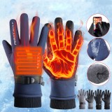 Outdoor Skiing Warm Fleece Gloves Waterproof Motocycle Touch Screen Gloves Motorbike Racing Riding Winter Gloves