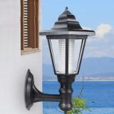 Outdoor Solar Powered Hexagon Shape Wall-Mount LED Lantern Light Garden Lawn Waterproof Wall Lamp