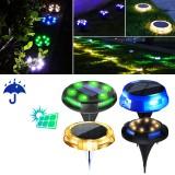 12 LED Solar Ground Light Floor Decking Night Lamp IP65 Waterproof Outdoor Garden Lawn Path Lamp