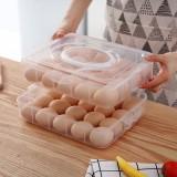 2/3 Layer Portable Egg Storage Box Plastic Egg Organizer Refrigerator Egg Container Case Eggs Holder Tray