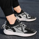 TENGOO Men's Running Shoes Shock Absorption Ultralight Breathable Comfortable Sports Sneakers Walking Flying Woven Casual Shoes