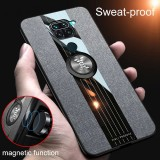 Bakeey for Xiaomi Redmi Note 9 / Redmi 10X 4G Case with Magnetic Ring Bracket Stand Shockproof Breathable Cloth Fabric Protective Case