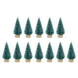 12 Pcs Mini Christmas Tree Sisal Silk Cedar Decor Small Christmas Tree Gold Silver Blue Green White Mini Christmas Tree