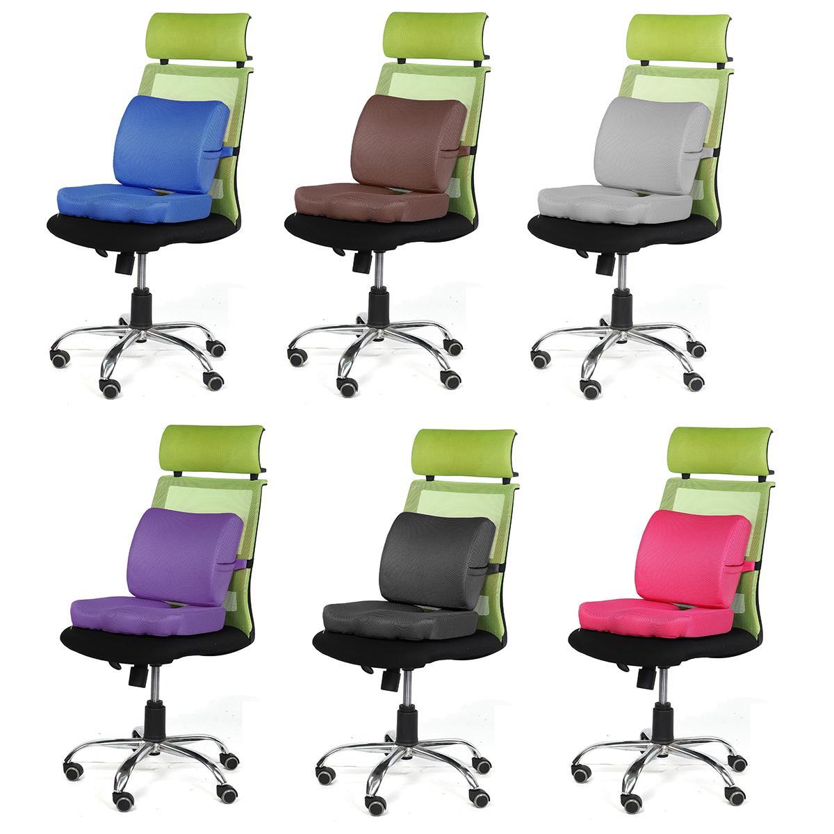 Cushion Office waist cushion seat cushion memory cotton hemorrhoid cushion car cushion backrest waist cushion chair