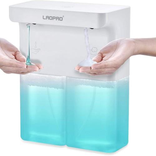 Automatic Soap Dispenser Double Outlets Touchless Infrared Sensor Liquid Foam Soap Dispenser Hand Saniziter Bathroom Kitchen