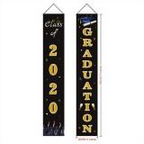 Graduation Banner Graduation Porch Sign Graduation Class of 2020 Banner Hanging Door Decor for Indoor Outdoor Graduation School Party Decorations