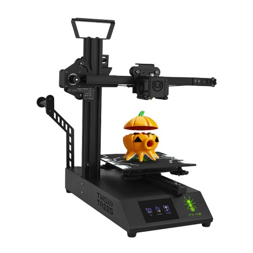 TWO TREES TT-1S 3D Printer Light-weighted Beginner DIY Kit 180x180x180mm Printing Area Cantilever Design with 3.5Inch Touch Screen/Power Resume/Titan Extruder Support Multi-Language